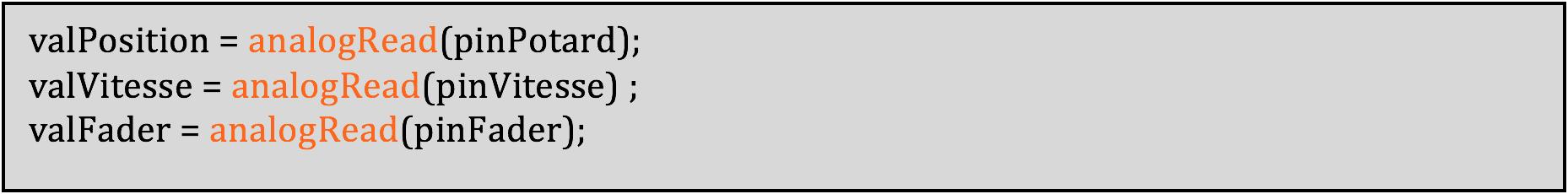 Initialisation des variables capteurs.