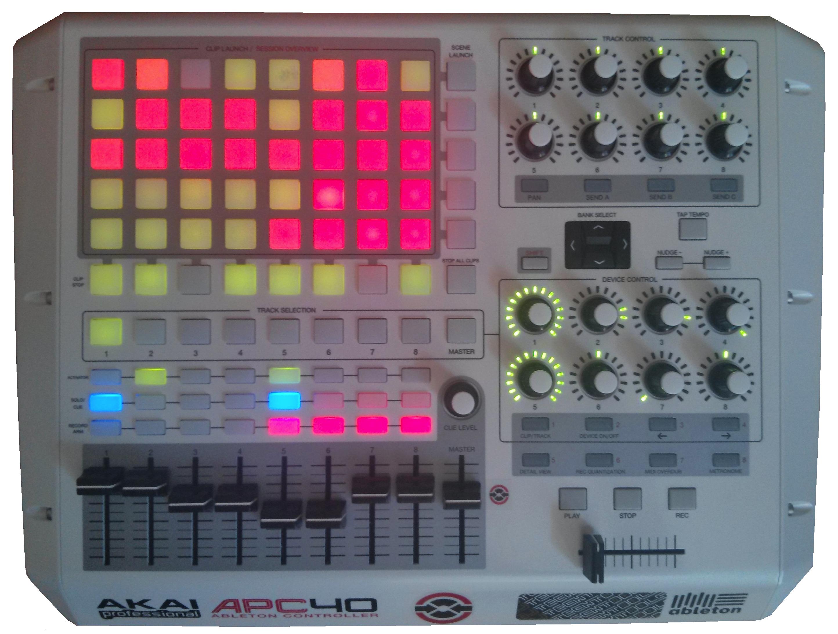 Exemple d'une utilisation live de cette configuration MIDI.