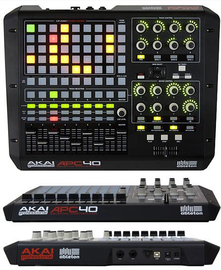 APC40 d'Akai, contrôleur MIDI dédié au logiciel Live d'Ableton.